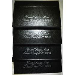 1992, 93 & 2-94 U.S. SILVER PROOF SETS