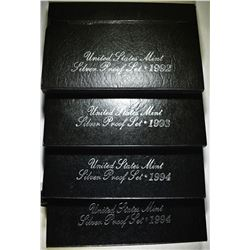 1992, 93 & 2-94 U.S. SILVER PROOF SETS