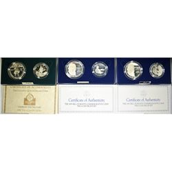 (3) 2-COIN PROOF COMMEM SETS: