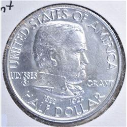 1922 GRANT COMMEM HALF DOLLAR, CH BU