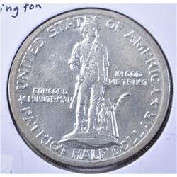 1925 LEXINGTON CONCORD COMMEM HALF DOLLAR, CH BU