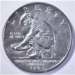 1925-S CALIFORNIA COMMEM HALF DOLLAR, GEM BU