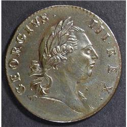 1773 VIRGINIA HALFPENNY  CH UNC