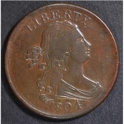 1804 BUST HALF CENT  CH AU/UNC