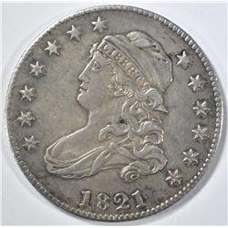 1821 CAPPED BUST QUARTER  UNC