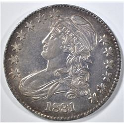 1831 CAPPED BUST HALF DOLLAR  CH ORG UNC
