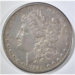 1889-CC MORGAN DOLLAR  CH ORG AU