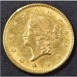 1853 $1 GOLD LIBERTY HEAD  CH BU