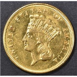 1856 $3 GOLD INDIAN PRINCESS  CH BU