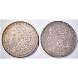 1882-O & 1902-O MORGAN DOLLARS CH BU