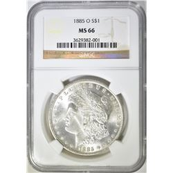 1885-O MORGAN DOLLAR  NGC MS-66
