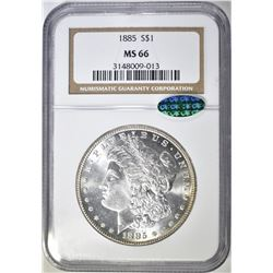 1885 MORGAN DOLLAR   NGC MS-66 CAC