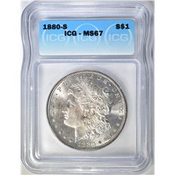 1880-S MORGAN DOLLAR  ICG MS-67