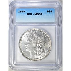 1899 MORGAN DOLLAR  ICG  MS-62