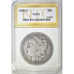 1903-S MORGAN DOLLAR  NTC VG