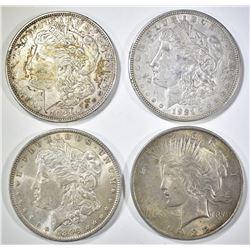 4-CIRC U.S. SILVER DOLLARS