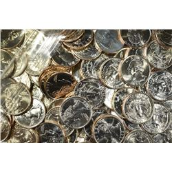 $53.00 MIXED BU QUARTERS FROM 1990, 96 & 98