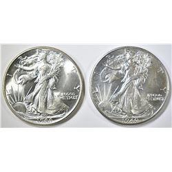 1940 & 44 WALKING LIBERTY HALF DOLLARS CH BU