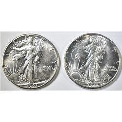 1941-P,D WALKING LIBERTY HALF DOLLARS CH BU