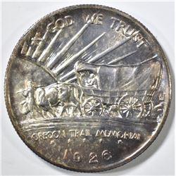 1926-S OREGON TRAIL COMMEM HALF GEM BU COLOR