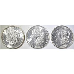 1883-O, 84-O, 86 MORGAN DOLLARS CH BU