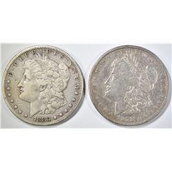 1878-S XF & 83-S VF MORGAN DOLLARS