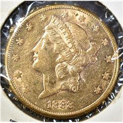 1888 $20.00 GOLD LIBERTY, AU
