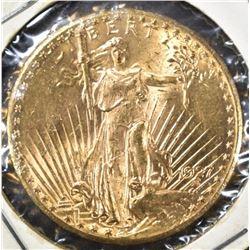 1927 $20.00 SAINT GAUDENS GOLD, BU