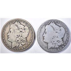 1900-O/CC  AG & 1889-S   VG MORGAN DOLLARS