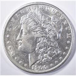 1900-S MORGAN DOLLAR  AU/BU