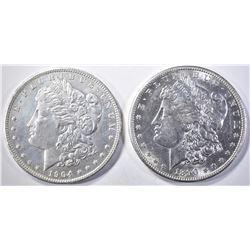 1890-S & 1904-O MORGAN DOLLARS