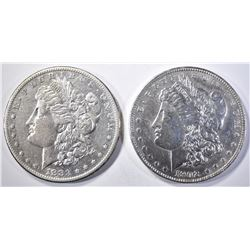 1883-S XF & 1902 AU MORGAN DOLLARS