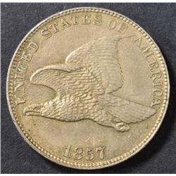 1857 FLYING EAGLE CENT  AU