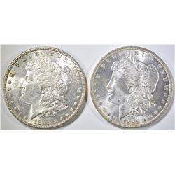 1885  BU & 1885-O BU MORGAN DOLLARS