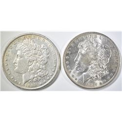 1884-O & 1889 UNC MORGAN DOLLARS