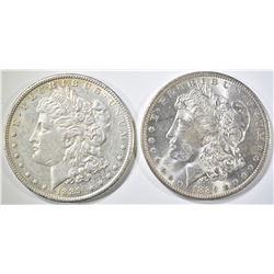 1884-O & 1889 UNC MORGAN DOLLARS