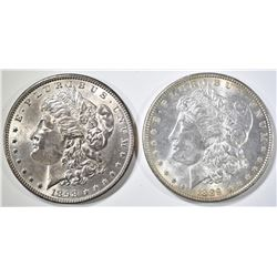 1889 & 1898 BU MORGAN DOLLARS