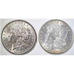 1889 & 1898 BU MORGAN DOLLARS