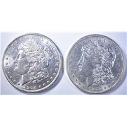 1879 & 1904-O MORGAN DOLLARS   BU