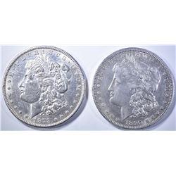 1890-O AU & 1878-S AU/BU MORGAN DOLLARS
