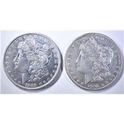 1892 XF & 1889-O AU CLEANED MORGAN DOLLARS