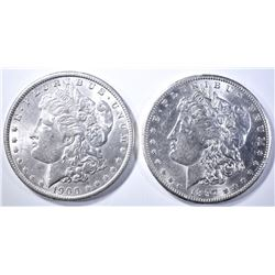 1900-O & 1897-S MORGAN DOLLARS  BU