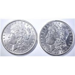 1900-O & 1897-S MORGAN DOLLARS  BU