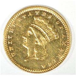 1876 $1 GOLD CH BU  PROOF LIKE!!  NICE