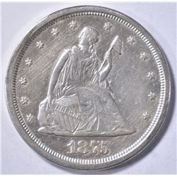 1875-S LIBERTY SEATED TWENTY CENT AU/BU