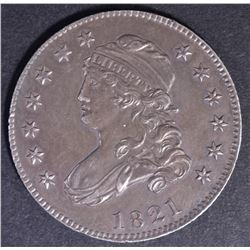 1821 BUST QUARTER AU/BU