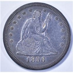 1856 SEATED LIBERTY QUARTER, XF