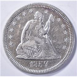 1857-O LIBERTY SEATED QUARTER XF AU