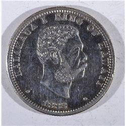 1883 HAWII QUARTER AU +