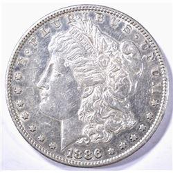 1886-S MORGAN DOLLAR, CH BU PROOF-LIKE